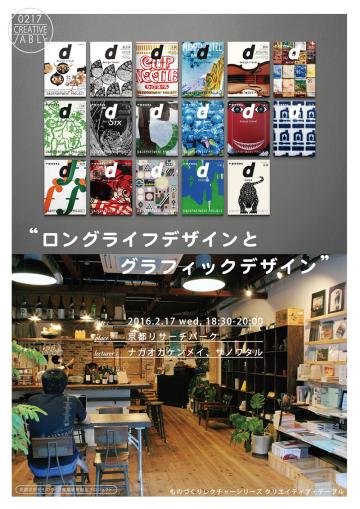 ものづくりレクチャーシリーズ クリエィティブ・テーブル 「ロングライフデザインとグラフィックデザイン」