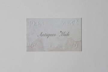 Antiques *Midi shopcard design