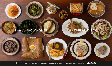 Brasserie Café ONZE WEBSITE design