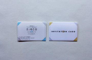 ZiRCO shopcard & INVITATION card design
