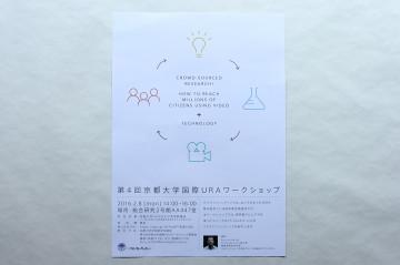 第4回 京都大学国際URAワークショップ POSTER DESIGN