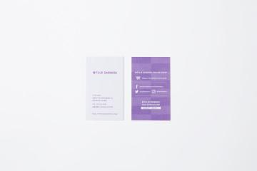 FUJII DAIMARU SHOP CARD DESIGN
