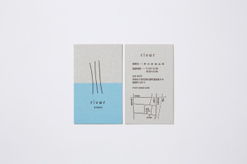 river RAMEN SHOPCARD DESIGN & LOGO DESIGN