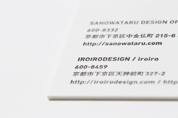 SANOWATARU DESIGN OFFICE NAMECARD DESIGN
