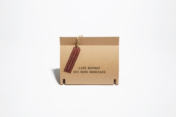 BISTROT BONS MORCEAUX TAKEOUT package design