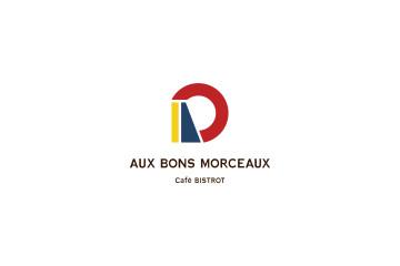 AUX BONS MORCEAUX Cafe Bistro logo design