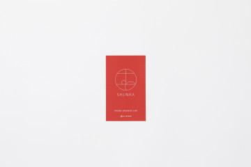SHUNKA TAKAHASHI ショップカードデザイン